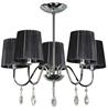Lampa Sufitowa Wisząca Candellux Sorento 35-38050 E14 Chrom Abażur Czarny