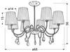 Lampa Sufitowa Wisząca Candellux Sorento 38-38067 E14 Chrom Abażur Czarny