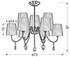 Lampa Sufitowa Wisząca Candellux Sorento 39-38074 E14 Chrom Abażur Czarny