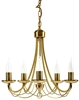 Ponadczasowa, wykonana ze stali, klasyczna lampa wisząca z pięcioma punktami świetlnymi Candellux Muza 35-69170