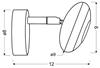 LAMPA ŚCIENNA KINKIET CANDELLUX SKIPPER 91-67494  LED  GŁÓWKA OKRĄGŁA  Z PRZEGUBEM   CHROM