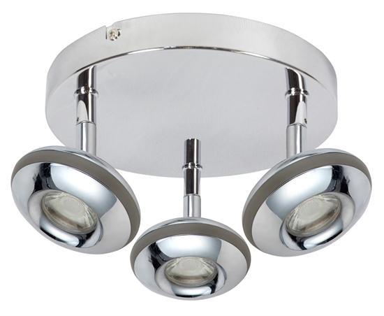 LAMPA SUFITOWA  CANDELLUX SKIPPER 98-67685 PLAFON  LED COB GŁÓWKA OKRĄGŁA  Z PRZEGUBEM   CHROM
