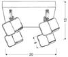 LAMPA SUFITOWA  CANDELLUX FORMA 98-62062 PLAFON  LED CHROM