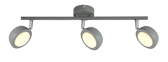 LAMPA ŚCIENNA  CANDELLUX MILD 93-66541 LISTWA  LED SZARY 3000K