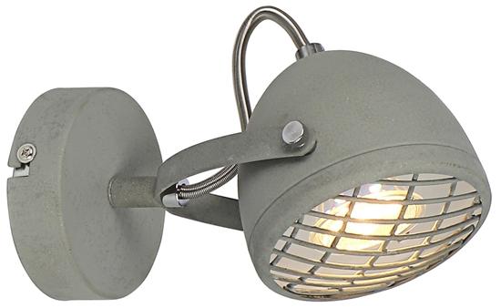 LAMPA ŚCIENNA KINKIET CANDELLUX PENT 91-67999  GU10 BETONOWY SZARY