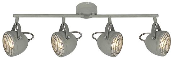 LAMPA ŚCIENNA  CANDELLUX PENT 94-68071 LISTWA  GU10 BETONOWY SZARY
