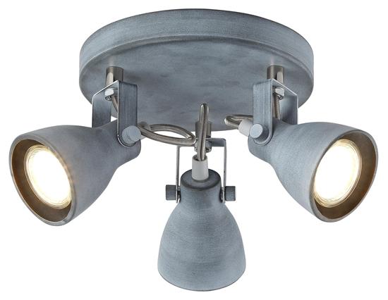 Lampa sufitowa plafon szary matowy Ash Candellux 98-64325