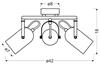 LAMPA SUFITOWA  CANDELLUX GRAY 98-66497 SPIRALA  E14 SZARY