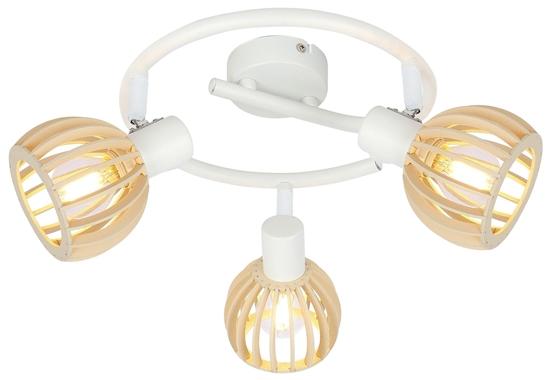 LAMPA SUFITOWA  CANDELLUX ATARRI 98-68125 SPIRALA  E14 BIAŁY+DREWNO