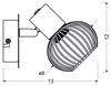 LAMPA ŚCIENNA KINKIET CANDELLUX OSLO 91-61836  E14 CZARNY/CHROM