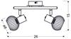 LAMPA ŚCIENNA  CANDELLUX OSLO 92-61843 LISTWA  E14 CZARNY/CHROM