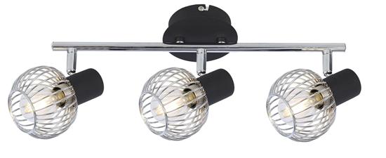 LAMPA ŚCIENNA  CANDELLUX OSLO 93-61850 LISTWA  E14 CZARNY/CHROM