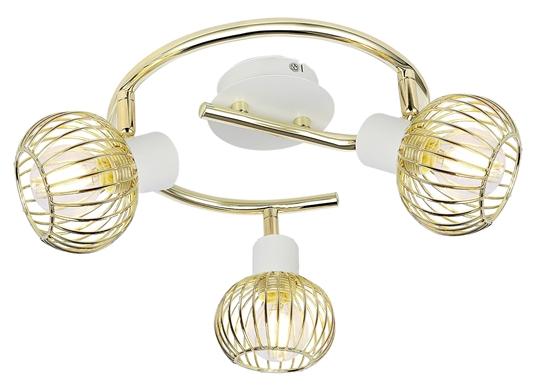 Lampa Sufitowa Candellux Oslo 98-61829 Spirala E14 Biały/Złoty