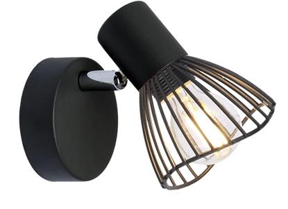 LAMPA ŚCIENNA KINKIET CANDELLUX FLY 91-61881  E14 CZARNY