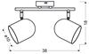 LAMPA ŚCIENNA  CANDELLUX AZURO 92-63212 LISTWA  E27 SZARY MAT
