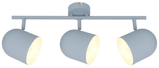LAMPA ŚCIENNA  CANDELLUX AZURO 93-63229 LISTWA  E27 SZARY MAT