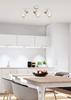 Lampa sufitowa ścienna listwa biała + drewno 3x40W Puerto Candellux 93-62673