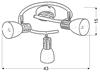 LAMPA SUFITOWA  CANDELLUX ANABEL 98-61690 SPIRALA  E14 BIAŁY + DREWNO