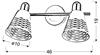 LAMPA ŚCIENNA  CANDELLUX DISCOVERY 92-62161 LISTWA  E14 CHROM/BIAŁY