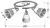 LAMPA SUFITOWA  CANDELLUX DISCOVERY 98-62185 SPIRALA  E14 CHROM/BIAŁY
