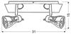 LAMPA ŚCIENNA  CANDELLUX ANGUS 92-39095 LISTWA  GU10 CZARNY+MIEDZIANY