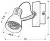 LAMPA ŚCIENNA KINKIET CANDELLUX MARKUS 91-35554-M  GU10 CZARNY+MIEDZIANY