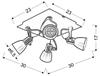 Lampa Sufitowa Candellux Markus 98-35639-M Plafon Gu10 Czarny+Miedziany