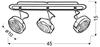 LAMPA ŚCIENNA  CANDELLUX EARTH 93-15801 LISTWA  GX53 ENERGO SATYNA/WENGE