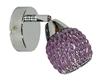 LAMPA ŚCIENNA KINKIET CANDELLUX CLEAR 91-06905  G9 FIOLET