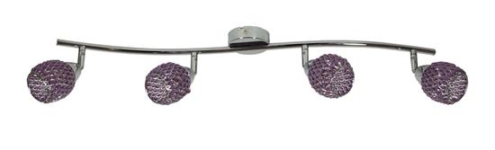 LAMPA ŚCIENNA  CANDELLUX CLEAR 94-06929 LISTWA  G9 FIOLET