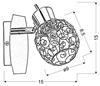 LAMPA ŚCIENNA KINKIET CANDELLUX HORUS 91-19134  G9 CHROM