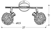 LAMPA ŚCIENNA  CANDELLUX COLLAR 92-13644 LISTWA  G9 CHROM