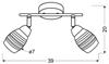 LAMPA ŚCIENNA  CANDELLUX JUBILAT 92-55699 LISTWA  E14 LED CHROM