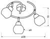LAMPA SUFITOWA  CANDELLUX FORT 98-62833 SPIRALA  E14 LED CHROM