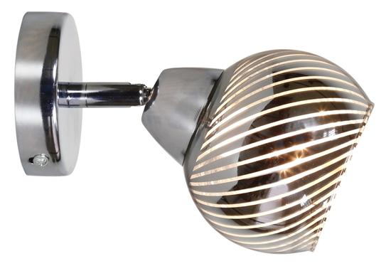 LAMPA ŚCIENNA KINKIET CANDELLUX FORT 91-62802  E14 LED CHROM