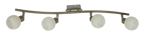 LAMPA ŚCIENNA  CANDELLUX ALABASTER 94-07162 LISTWA  G9 SATYNA+CHROM