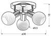 LAMPA SUFITOWA  CANDELLUX TURNO 98-10940 PLAFON  E14 CHROM