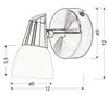 LAMPA ŚCIENNA KINKIET CANDELLUX SELIA 91-69979  G9 NIKIEL MAT/CHROM BIAŁY