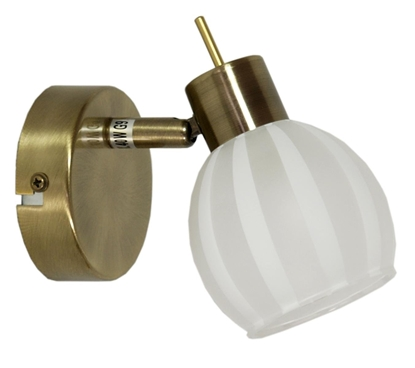 LAMPA ŚCIENNA KINKIET CANDELLUX BARS 91-06745  G9 PATYNA