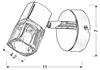 LAMPA ŚCIENNA KINKIET CANDELLUX DIAMENT 91-19229 G9