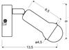 LAMPA ŚCIENNA KINKIET CANDELLUX ARC 91-63281  E14 SATYNA NIKIEL