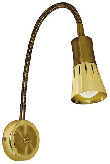 LAMPA ŚCIENNA KINKIET CANDELLUX ARENA 91-84470 WYSIĘGNIK  R50 E14 ZŁOTO PATYNA
