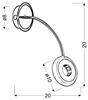 LAMPA ŚCIENNA KINKIET CANDELLUX ARM 21-62628  LED CZARNY/CHROM