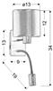 LAMPA ŚCIENNA KINKIET CANDELLUX SYLWANA 21-29317  E14 + LED Z WYŁĄCZNIKIEM CHROM / BURGUND CIEMNY