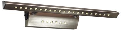 LAMPA ŚCIENNA KINKIET CANDELLUX FORTE 20-27023  LED RURKA TRÓJKĄTNA Z WYŁĄCZNIKIEM SATYNA