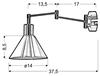 LAMPA ŚCIENNA KINKIET CANDELLUX COPENHAGEN 21-41210  E14 PATYNA