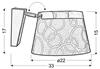 Lampa Ścienna Kinkiet Candellux Impresja 21-46324 E27 Czarna Chrom