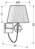 LAMPA ŚCIENNA KINKIET CANDELLUX TESORO 21-29539  E14 BRĄZOWY