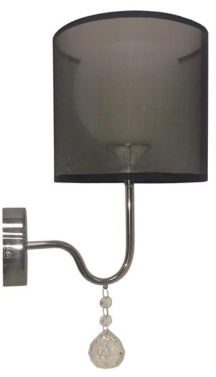 LAMPA ŚCIENNA KINKIET CANDELLUX BRAVA 21-26552   E27 CZARNY