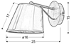 Lampa Ścienna Kinkiet Candellux Cortez 21-55002 E14 Chrom